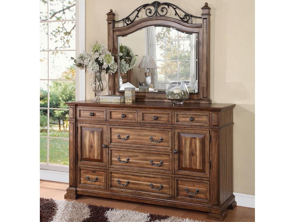Legends Furniture BarclayDresser and Mirror Set