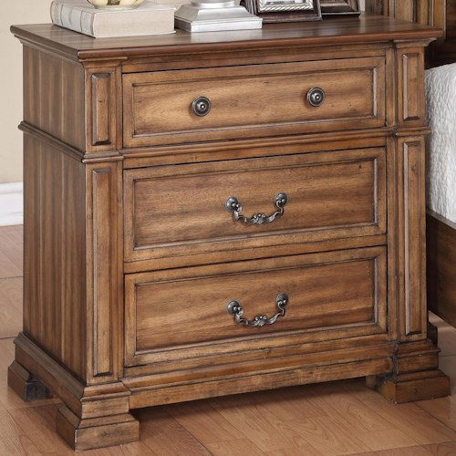 Legends Furniture Barclay Nightstand with 3 Drawers