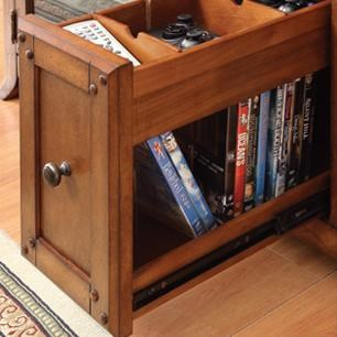 Pullout DVD / Charging Drawer