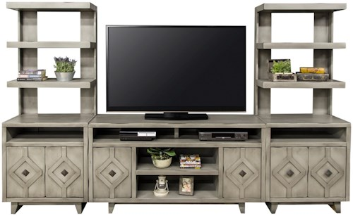 Legends Furniture Beverly Collection Entertainment Wall Unit with Storage
