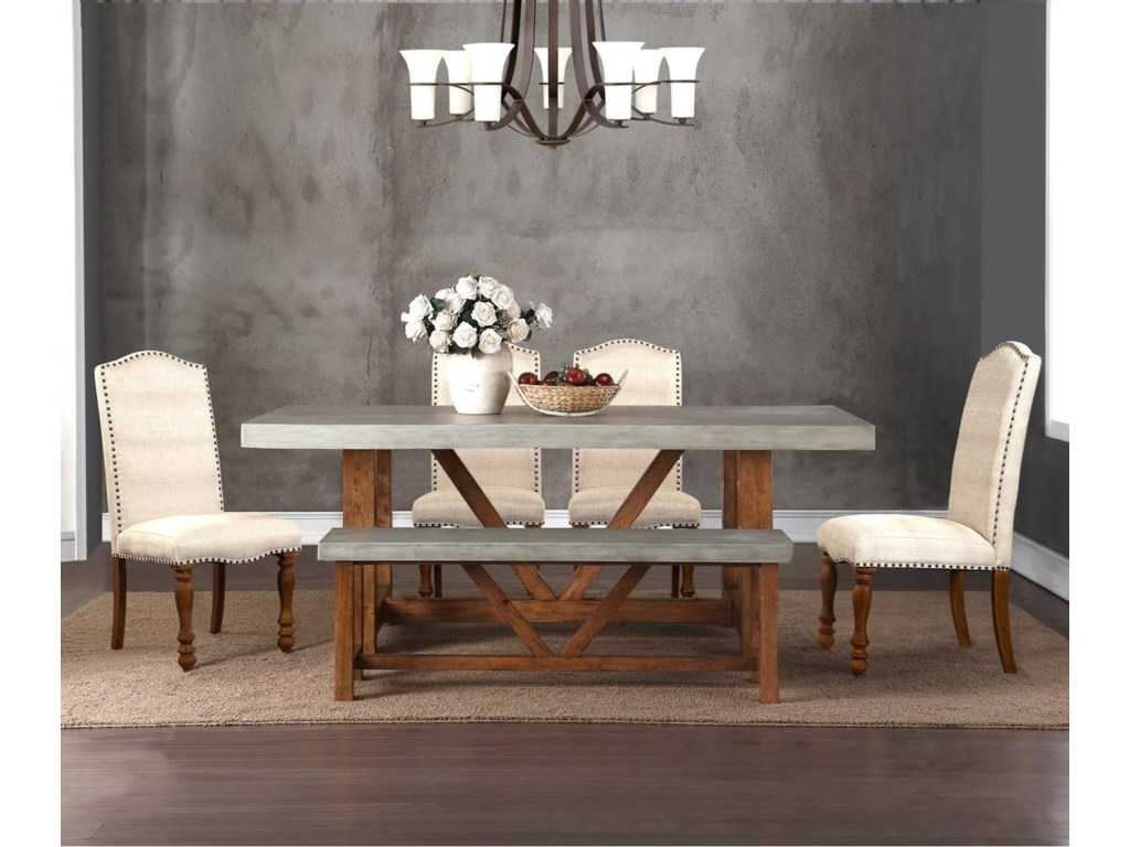 Legends Furniture Bohemian6 Piece Table & Chair Set with Bench