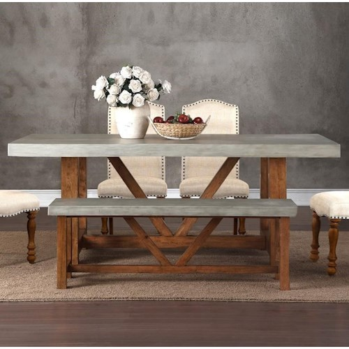 Legends Furniture Bohemian Cement Top Dining Table Wayside - Cement look dining table