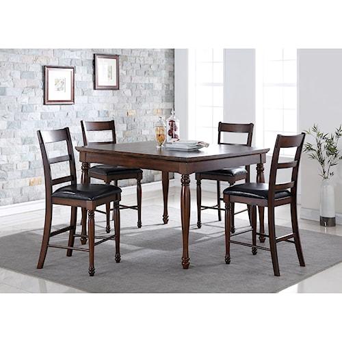 Legends Furniture Breckenridge 5 Piece Counter Height Table & Stool Set