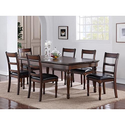 Legends Furniture Breckenridge 7 Piece Table & Chair Set