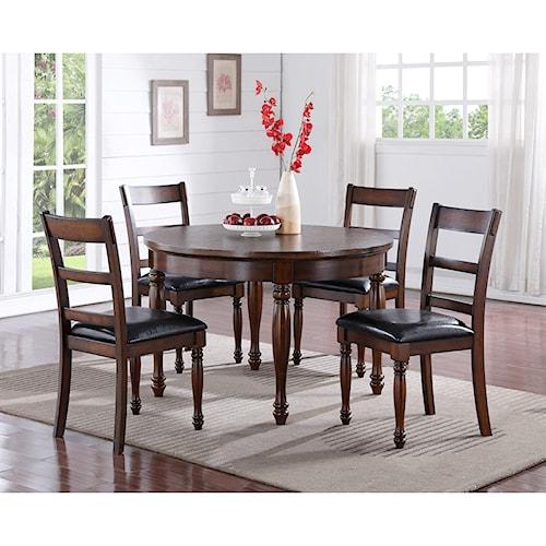 Legends Furniture Breckenridge 5 Piece Round Table & Chair Set