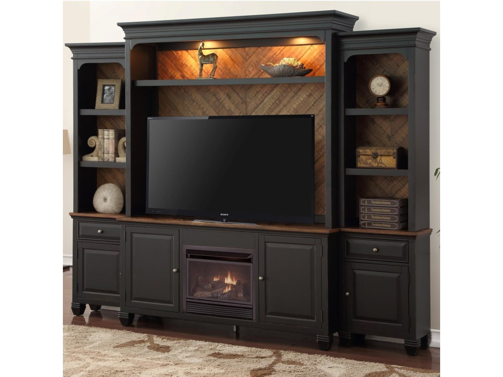 Legends Furniture Brighton Fireplace Entertainment Wall Console With