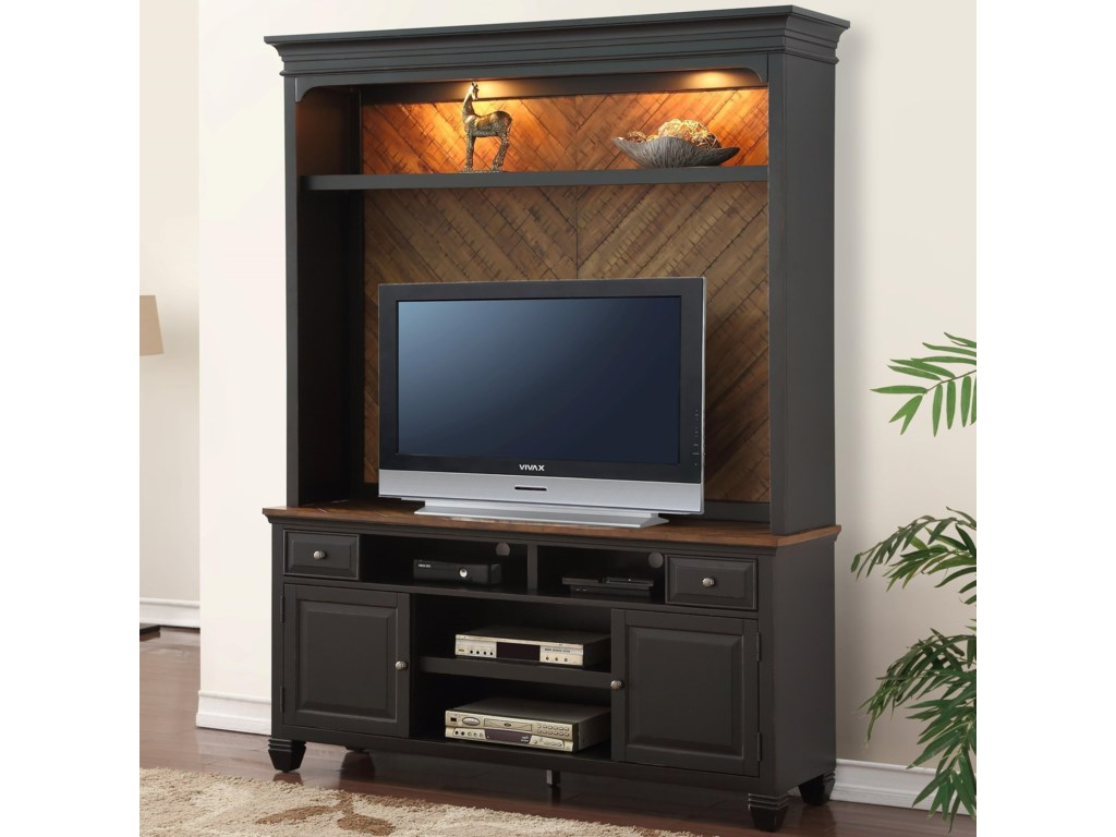 Legends Furniture BrightonTV Console and Hutch