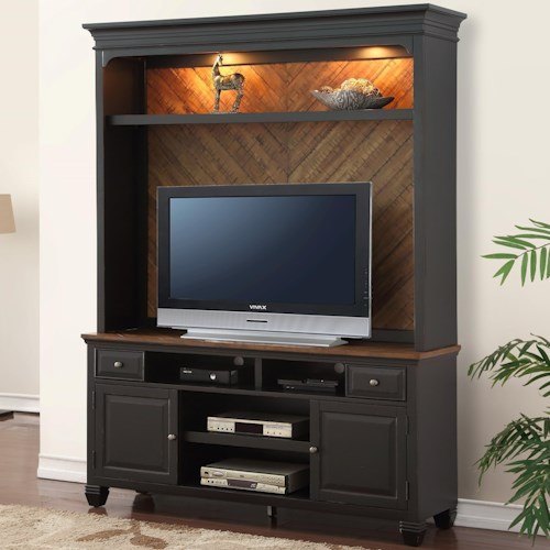 Legends Furniture Brighton TV Console and Hutch