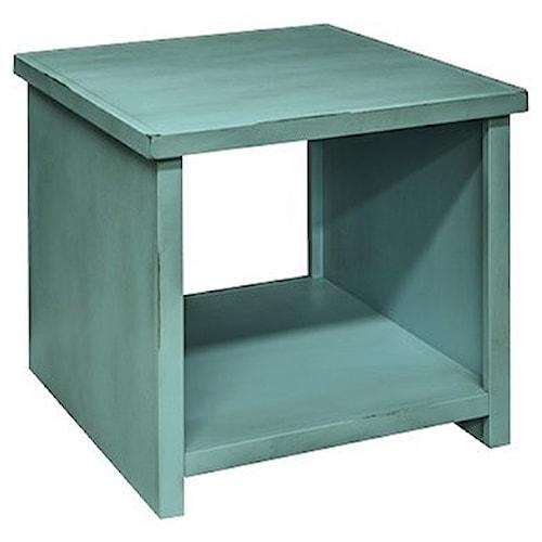 Legends Furniture Calistoga Collection Calistoga Blue End Table