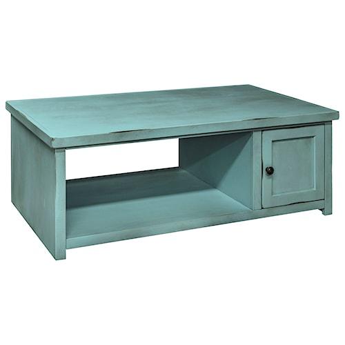 Legends Furniture Calistoga Collection Calistoga Coffee Table with Shelf
