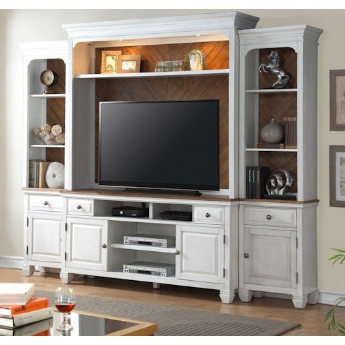 Legends Furniture Camden Collection Entertainment Wall Console with Lighting