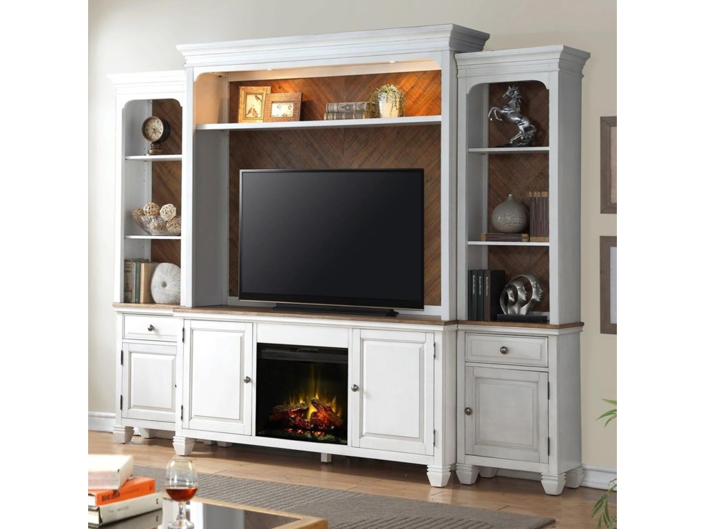 Legends Furniture Camden CollectionFireplace Entertainment Wall Console