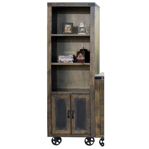 Legends Furniture Cargo Pier with Two Shelves and Bottom Wheel Design