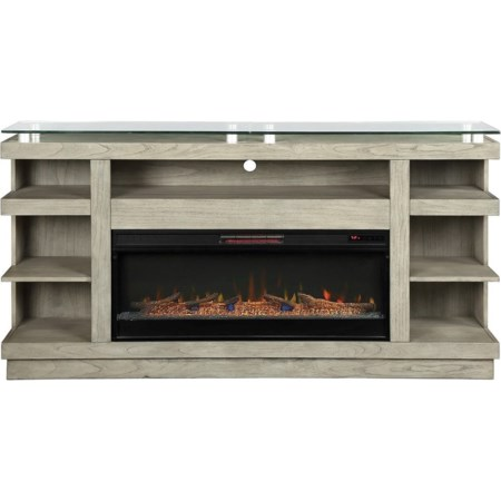 "74"" Fireplace Console"
