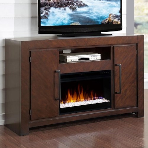 Legends Furniture City Lights Fireplace Console