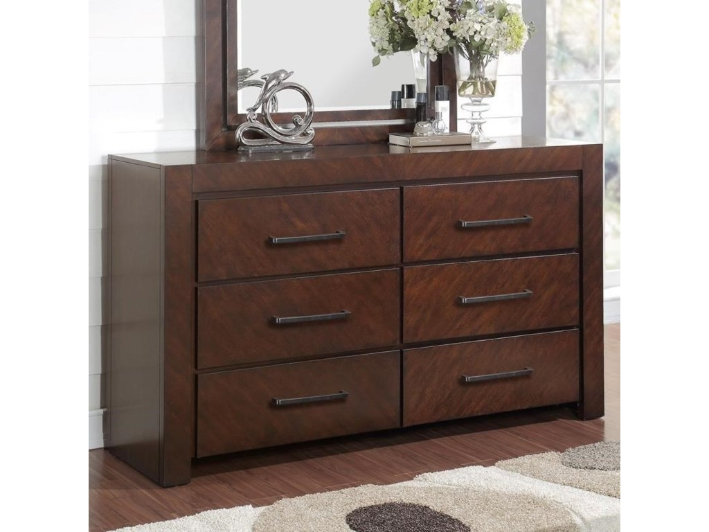 Legends Furniture City Lights6 Drawer Dresser