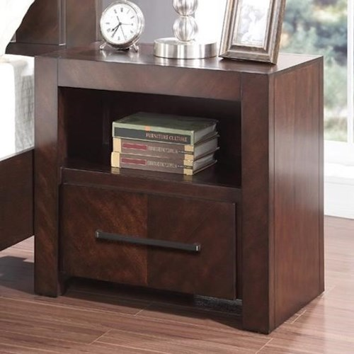 Legends Furniture City Lights Night Stand with USB Ports