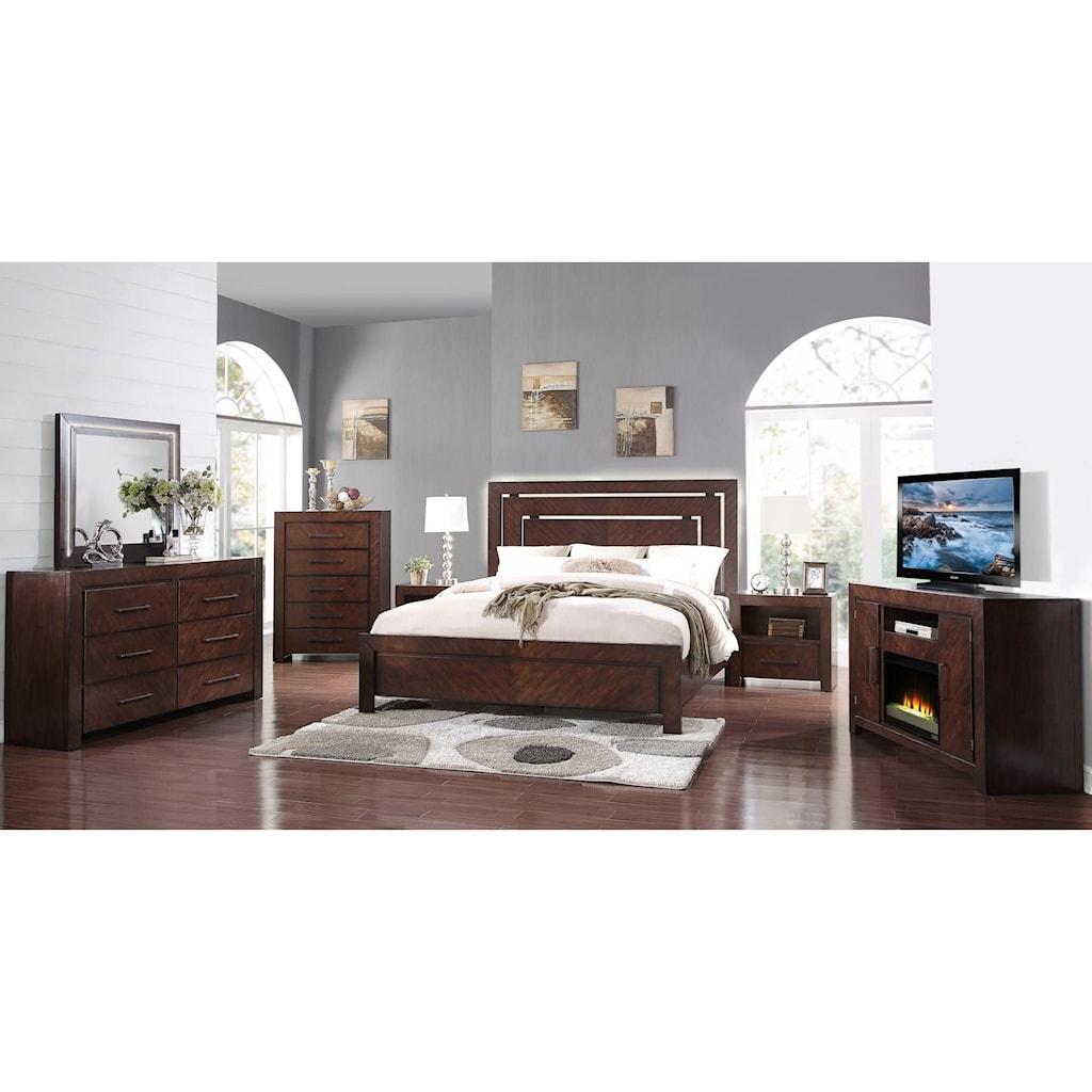Legends Furniture City Lights 3 Piece Bedroom Set Includes Queen