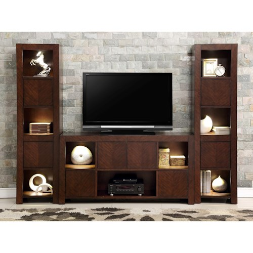 Legends Furniture City Lights Contemporary City Lights Wall Unit with 2-Piers