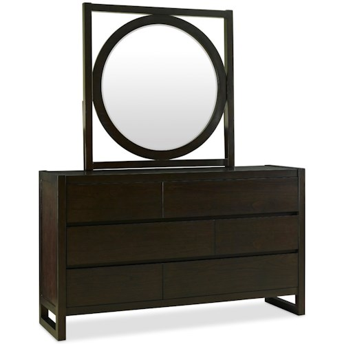 Legends Furniture Crosby Street Contemporary Dresser and Mirror Set