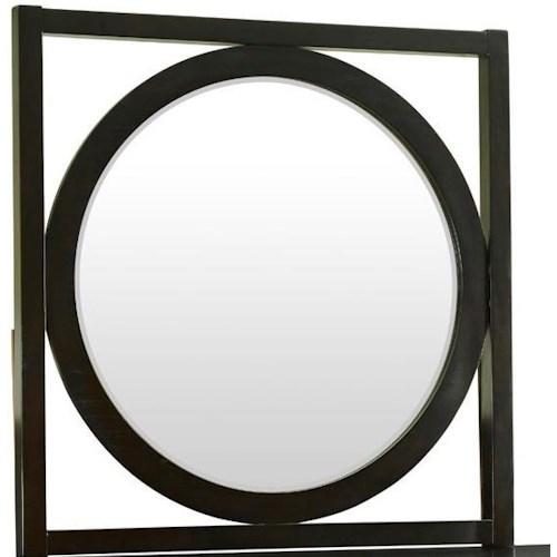 Legends Furniture Crosby Street Round Mirror with Square Wood Frame