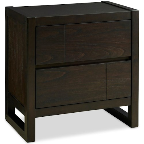 Legends Furniture Crosby Street Contemporary 2 Drawer Nightstand