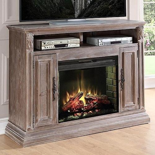 Legends Furniture Estancia Collection Estancia Fireplace Media Console
