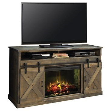 Legends Furniture Farmhouse Collection 66 Fireplace Console With