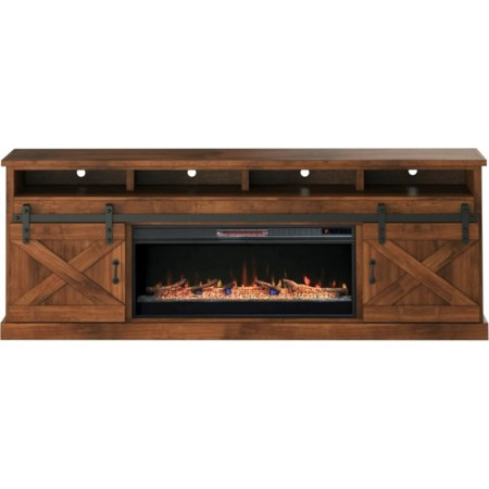 "92"" Fireplace Console"
