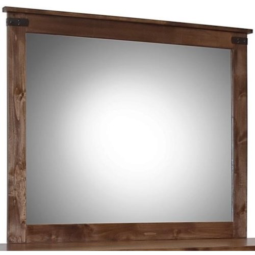 Legends Furniture Farmhouse Collection Rustic Mirror
