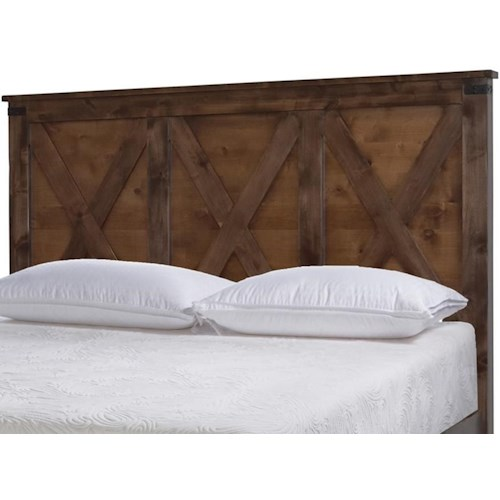 Legends Furniture Farmhouse Collection Rustic King Headboard
