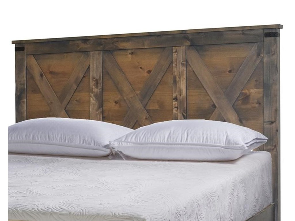 outlet store edb2f ae2a7 Farmhouse Collection Rustic Queen Headboard by Legends Furniture at  Furniture Barn