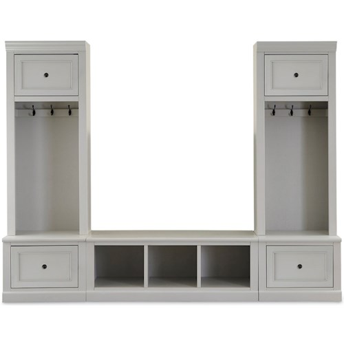 Legends Furniture Hayden Entry Wall with Bench and Coat Hangers