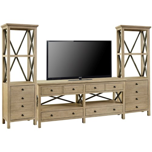 Legends Furniture Hideaway Transitional Entertainment Wall Unit
