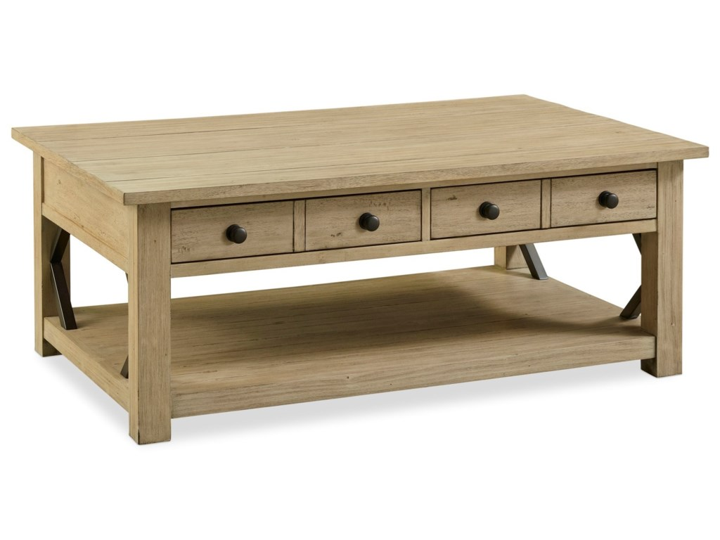 Legends Furniture Hideaway Transitional Coffee Table Prime