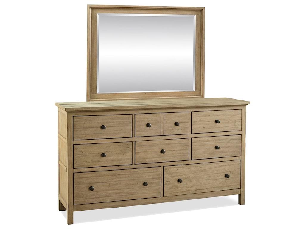 Legends Furniture Hideaway 8 Drawer Dresser And Mirror Set Van