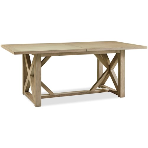 Legends Furniture Hideaway Trestle Table with 22