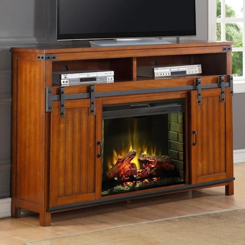 Legends Furniture Industrial Collection Industrial Fireplace Console