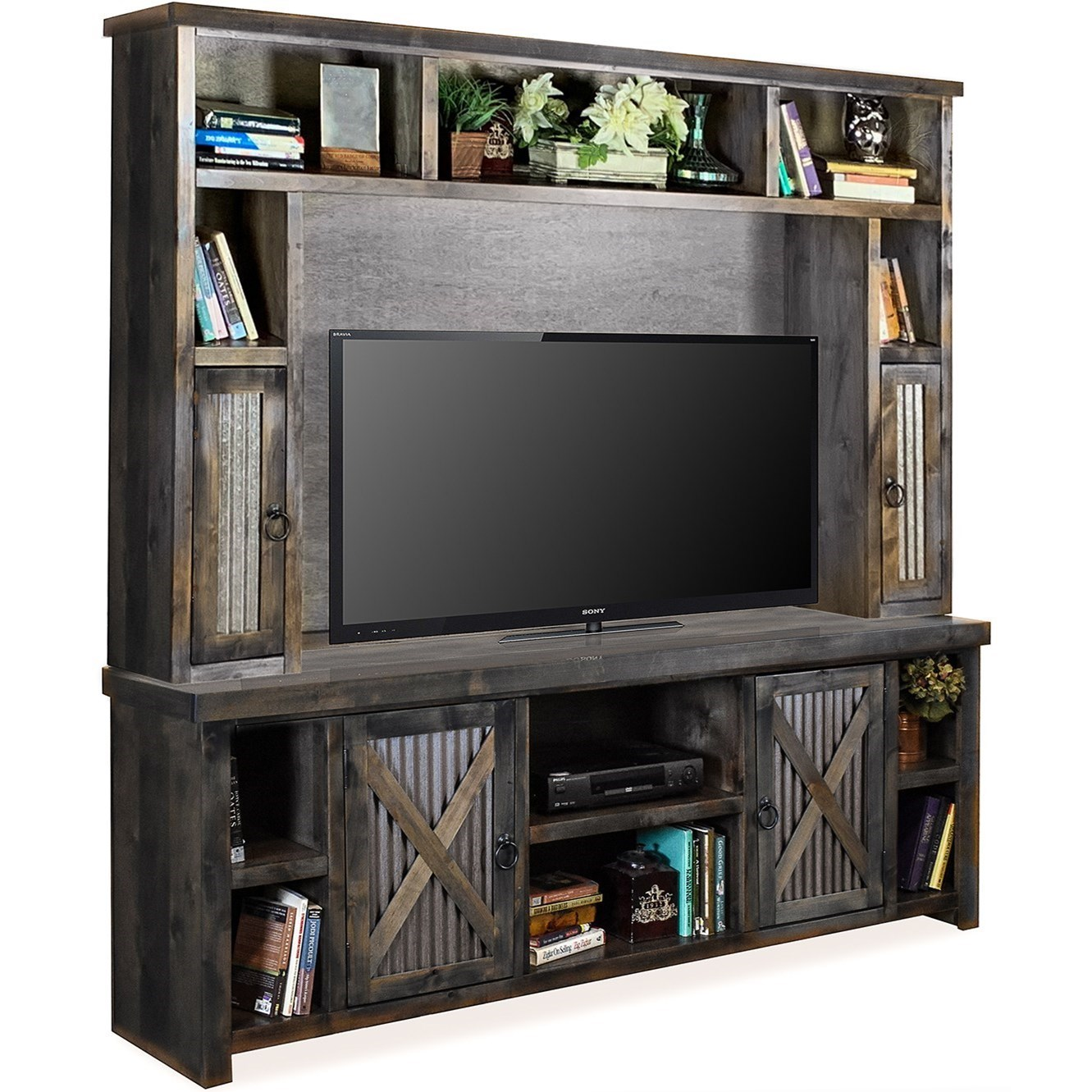 Legends Furniture Jackson Hole Rustic Entertainment Center With Metal Door Accents Wayside Furniture Wall Unit