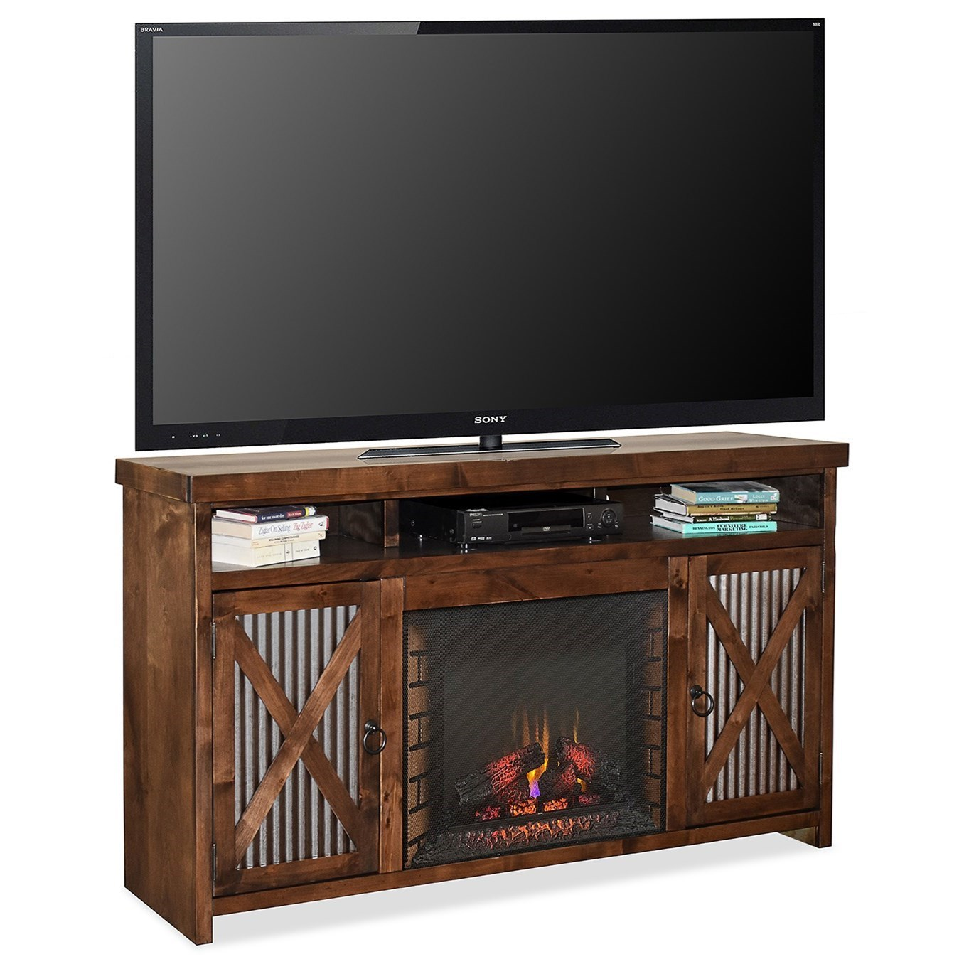 Rustic Fireplace Console