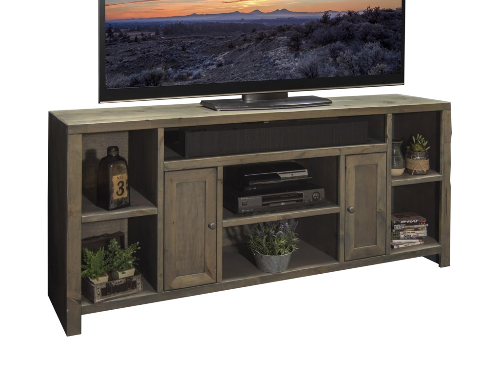Legends Furniture Joshua Creek 65 Tv Console With 2 Doors And 7