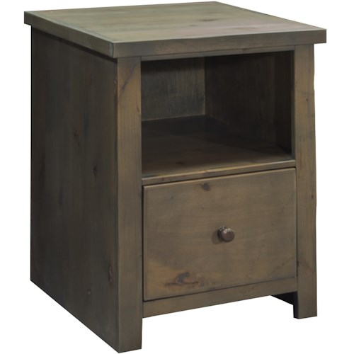 Legends Furniture Joshua Creek File Cabinet with Drawer and Shelf