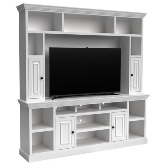 Transitional  Entertainment Center with Storage