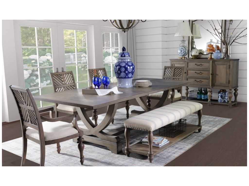 Legends Furniture Laurel GroveFormal Dining Room Group