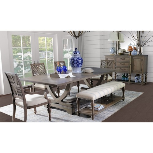Legends Furniture Laurel Grove Formal Dining Room Group