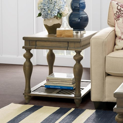Legends Furniture Laurel Grove End Table with Pull Out Tray