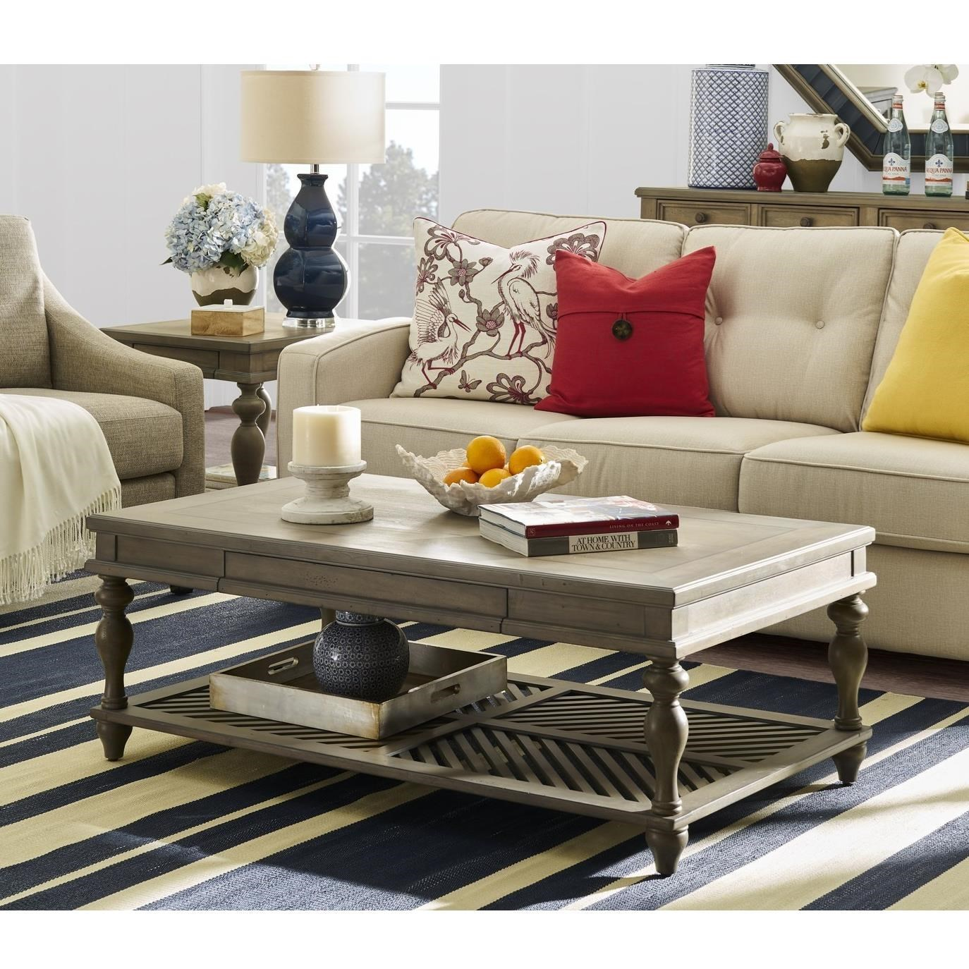 - Legends Furniture Laurel Grove Coffee Table With Pull Out Tray