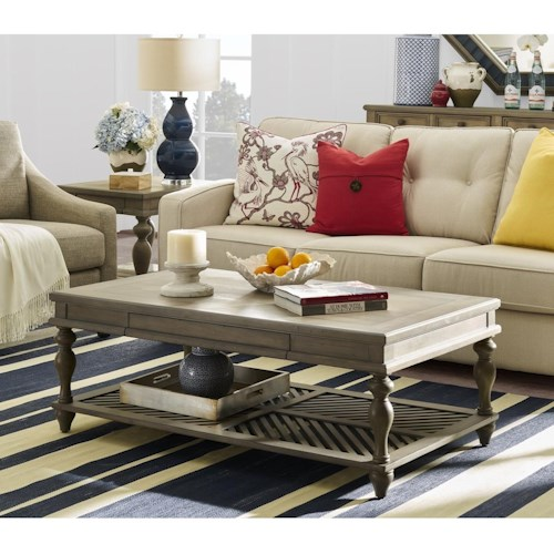 Legends Furniture Laurel Grove Coffee Table with Pull Out Tray