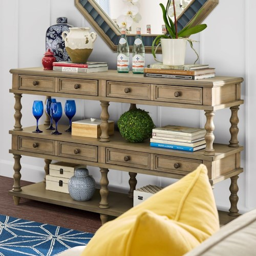 Legends Furniture Laurel Grove 4 Drawer Console Table