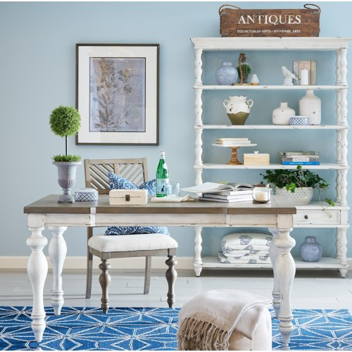 Legends Furniture Laurel Grove Two-Tone Writing Table